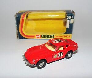 Voiture de coulée sous pression Whizzwheels de Winzwauws Vintage Corgi 394 Datsun 240z