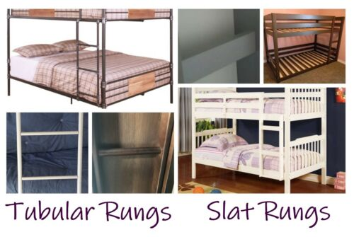 BLACK Padded Bunk Bed Ladder Rung Covers *No-Tool Install* Safe, Non Slip