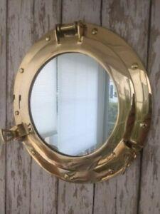 8-034-Brass-Porthole-Mirror-Nautical-Maritime-Wall-Decor-Ship-Cabin-Window-Gift
