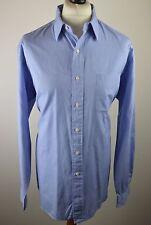Classic mens Polo Ralph Lauren blue micro check long sleeved shirt XXL 17 1/2 44