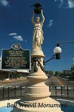 Boll Weevil Monument Enterprise Alabama World's only Mon to Insect Pest Postcard