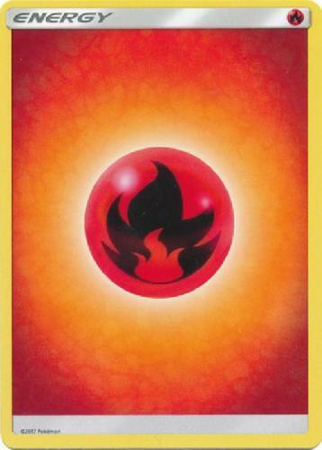 and Casi Nuevo-Pokemon 2017 Rojo Burn 20X Fire Basic Energy-Sun Moon Base Set