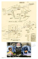 1965 Cockpit Blueprint For 1966 Batmobile 1 Batman Tv Pilot Art Print 2 Poster