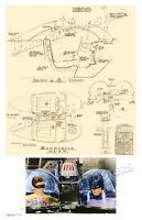 1965 Cockpit Blueprint For 1966 Batmobile 1 Batman Tv Pilot Art Print 2 Poster