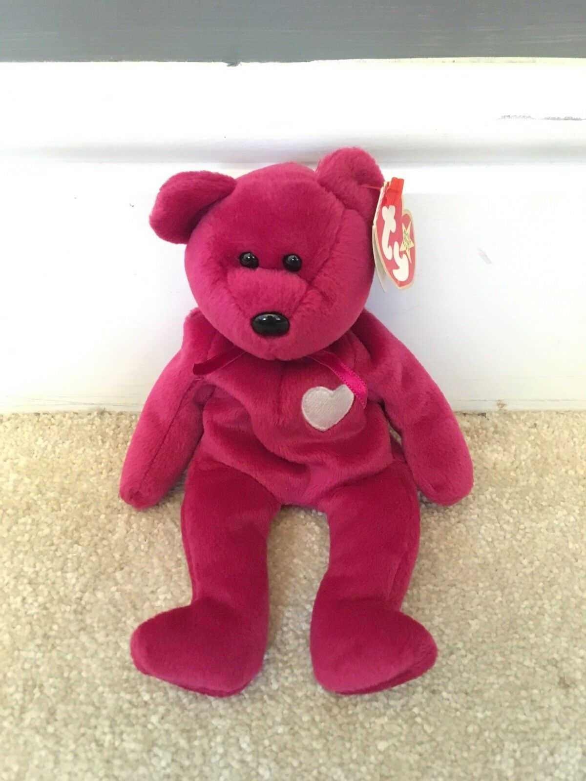 Extremely rare (1999) Ty Beanie Baby Valentina with year discrepancy on tag