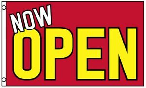 NOW-OPEN-Flag-Red-Yellow-Business-Banner-3x5-Foot-Advertising-Grand-Opening-Sign