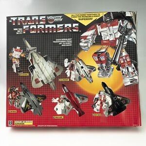 1985 G1 Transformers Autobot Superion — All robots w/box — Near 100% Complete