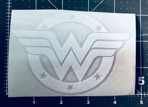 Wonder Woman color White Car Sticker