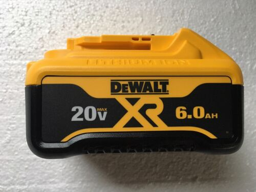 (1)DEWALT DCB206x20Volt Lithium Ion 6.0 AH Battery