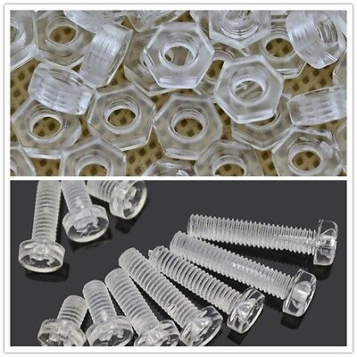 20PCS-100PCS M3 M4 M5 M6 PC Screws Nylon Screws Plastic Screws Nuts