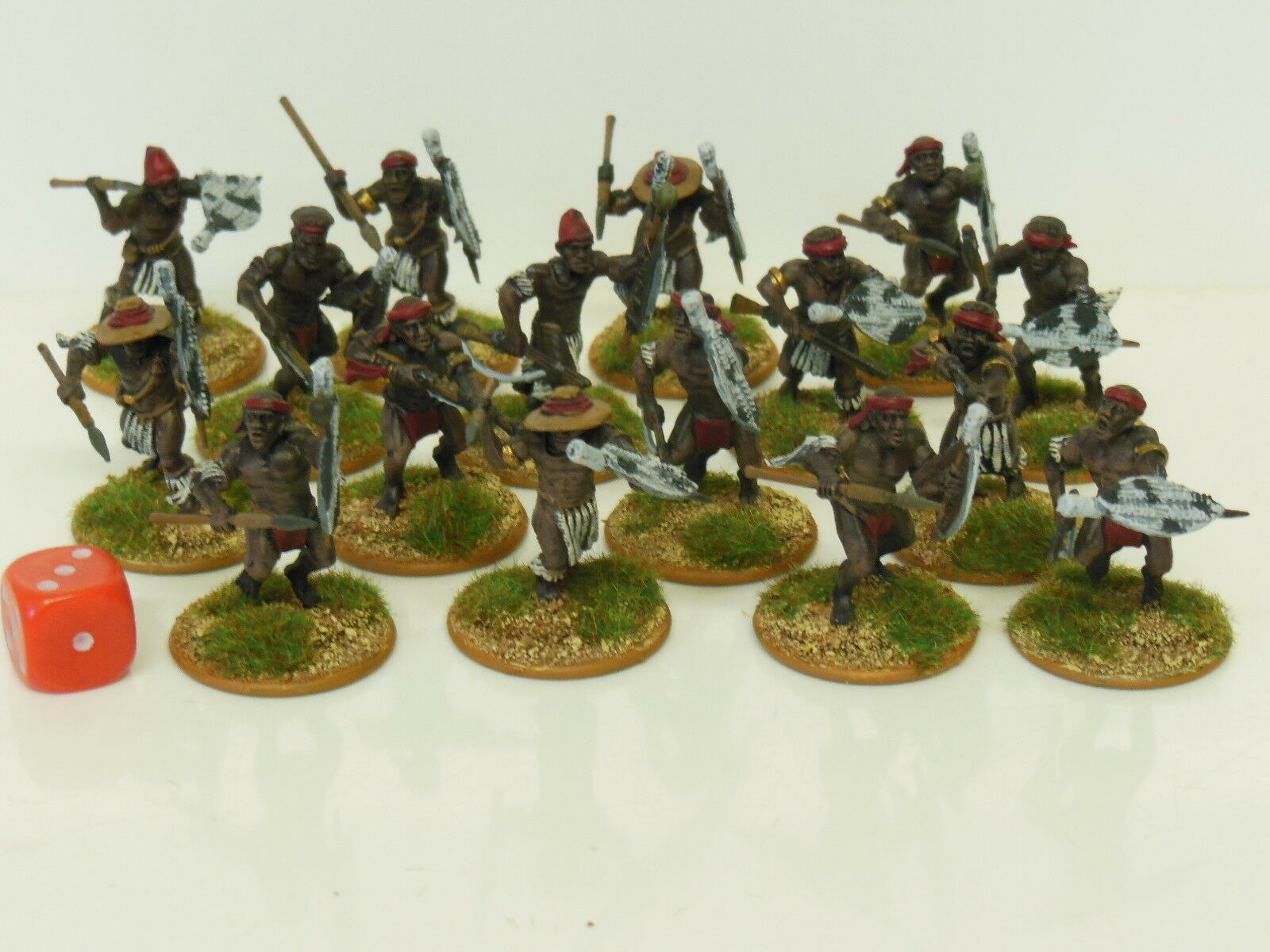 28mm Natal Native Contingent - Zulu Wars   Darkest Africa - Painted & Based (R1)