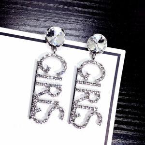 Letter-Crystal-Rhinestone-Drop-Dangle-Earrings-Ear-Studs-Women-Lady-Jewelry-G-JC