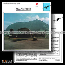 #093.01 PILATUS PC 6 PORTER - Fiche Avion Airplane Card