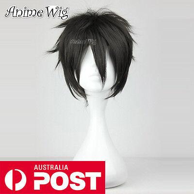 Sword Art Online Kirigaya Kirito Black Short 30CM Cosplay Layered Wig Anime