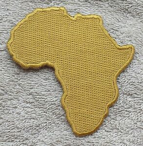 AFRICA MAP PATCH Gold Rastafarian Badge/Emblem Biker Jacket King Selassie Jah
