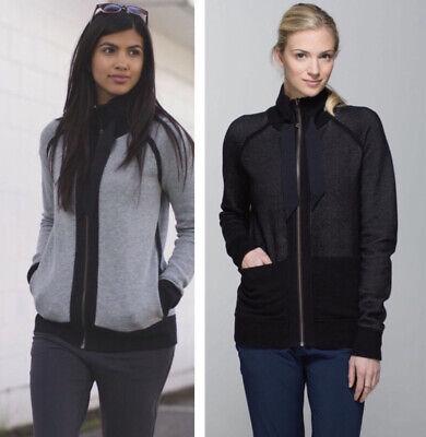 lululemon post savasana reversible jacket black gray size