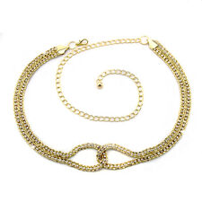 Gold Diamante/Diamond Ladies Waist Chain/Charm Belt - One Size Fits All - 280
