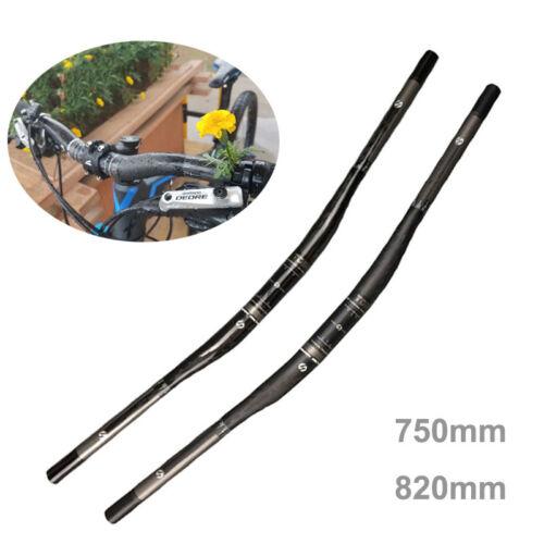 Carbon Bike Handlebar MTB Mountain Road Cycling Bicycle Riser Bar 31.8*750//820mm
