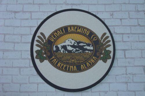 Beer Brewery Coaster ~*~ DENALI Brewing Co ~ Talkeetna ALASKA ~ Mountain Scene