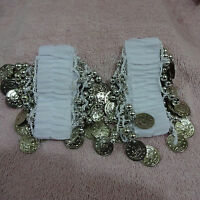 Professional Belly Dancing Accessories Ankle Cuff Arm Bracelet With Gold Coins