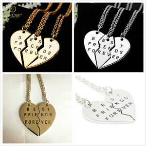 New-Pieces-BroHeart-Pendant-Necklace-Chic-Best-Friends-Forever-Necklace-PR