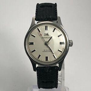 Shanghai Unisex 19 Zuan Fangzhen SS7 Wind Up Mechanical Analog Wristwatch