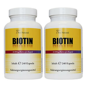 480-Kapseln-Biotin-10mg-Vitamin-B7-Haare-Haut-Naegel-Unterstuetzung-100-vegan