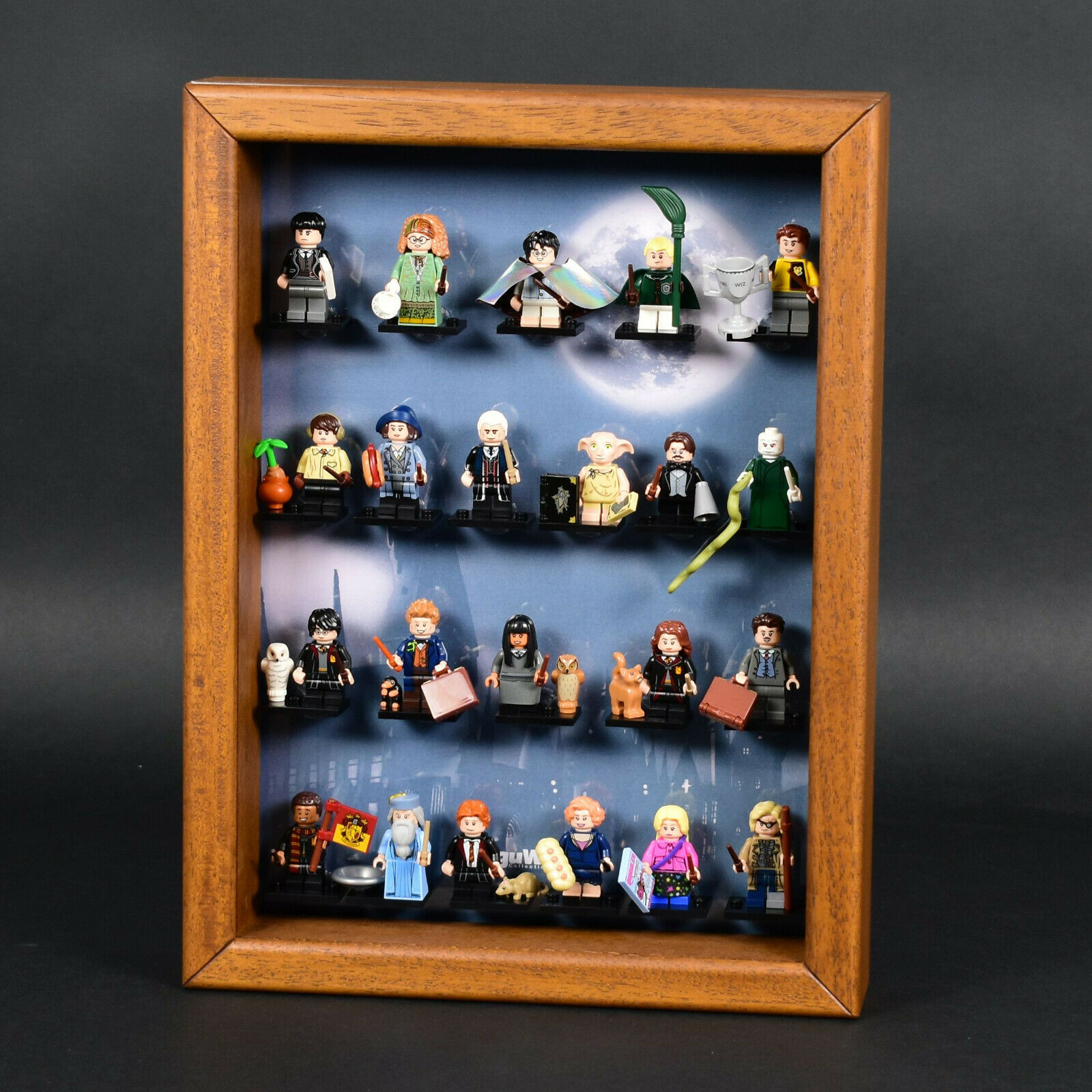 FiguCase® Click System Vitrine für LEGO® Serie Harry Potter (71022) Eiche Figur