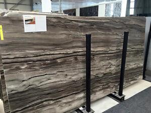 Tischplatte Kuche Braun Satiniert Abdeckung Arbeitsplatte Naturstein