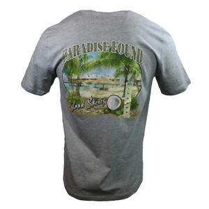 Paradise-Found-Men-039-s-T-shirt-034-Island-Shores-034-Bahama-Vacation-Fathers-Day-Gift