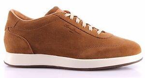 Caricamento dell immagine in corso Scarpe-Uomo-Sneakers-SANTONI-Camoscio -Marrone-Caoutchouc-Made- cc19f34b391