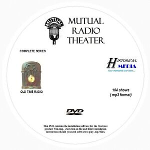 MUTUAL-RADIO-THEATER-104-Shows-Old-Time-Radio-In-MP3-Format-OTR-On-1-DVD