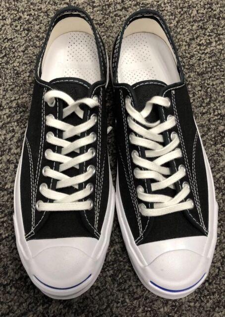 c95dd73834e Men s Size 8W 9.5 Converse Jack Purcell Signature Ox Black Sneakers 147560C