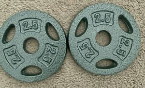 set of 4-5 LB Pound CAP Weight Cast Iron Plates standard 1 inch 20lb total