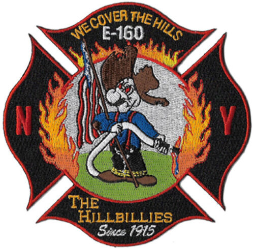"""NEW YORK CITY FIRE DEPT E-160 /""""WE COVER THE HILLS/"""" FIRE PATCH"""