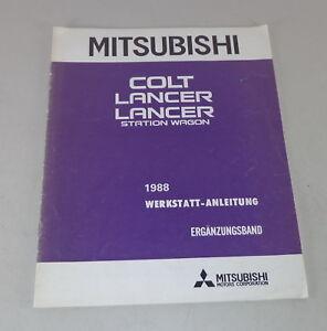 Workshop-Manual-Mitsubishi-COLT-Lancer-Station-Wagon-Supplement-Bauajahr-1988