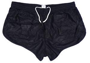 Vintage-French-Army-Shorts-Black-Hot-Pants-Retro-Running-Football-PE-PT-New