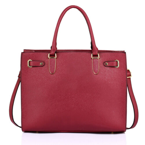 Ladies Tote Shoulder Bags Womens Large Shopping Work Party Faux Leather Handbags