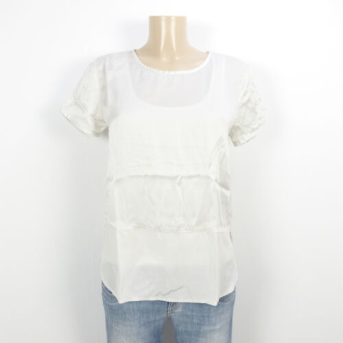 Iheart cass Chemise Blouse Tunic Blanc chemisier araSp78q
