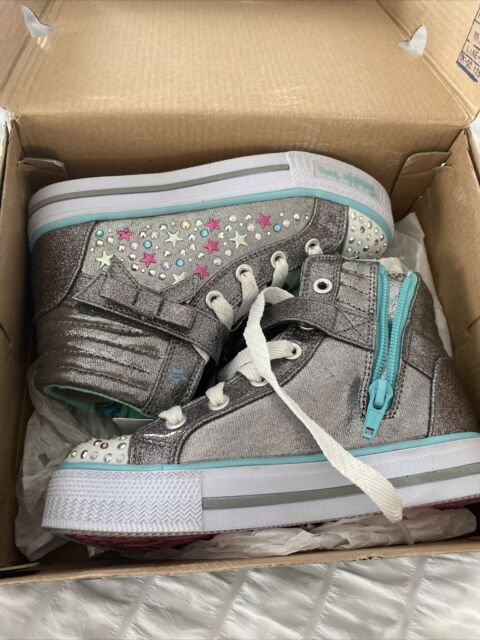 doce Acechar petrolero  Skechers Girls' Twinkle Toes Shuffles Unicorn Cute High Top 12.5 M Light  Denim/multi for sale online | eBay