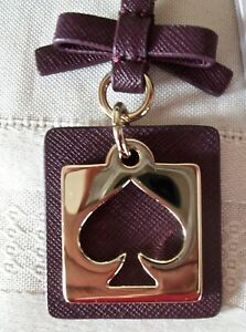 Details about Kate Spade Cut Out Spade Keychain Handbag Charm NWT  Valentine's Day Plum