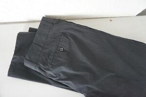 HUGO-BOSS-chino-stoffhose-stretch-Hose-gestreift-Gr-52-ca-W38-L32-schwarz-E10