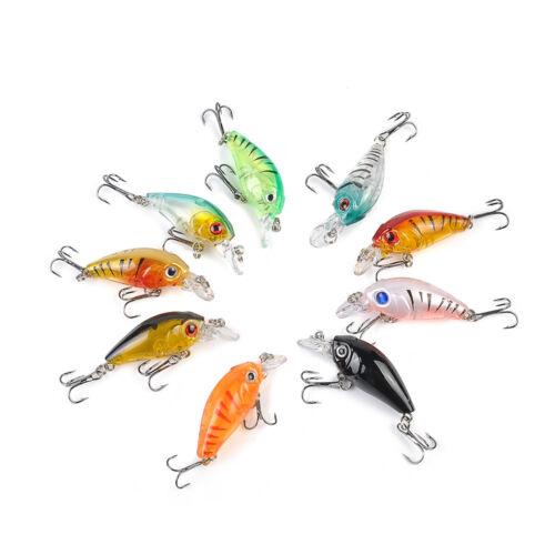 Lots 5Pcs Plastic Fishing Lures Bass CrankBait Crank Bait Tackle 4.5cm//4g