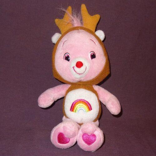 "Cheer Bear Reindeer Care Bears Stuffed Plush Animal 11"" 2007 Christmas Pink"