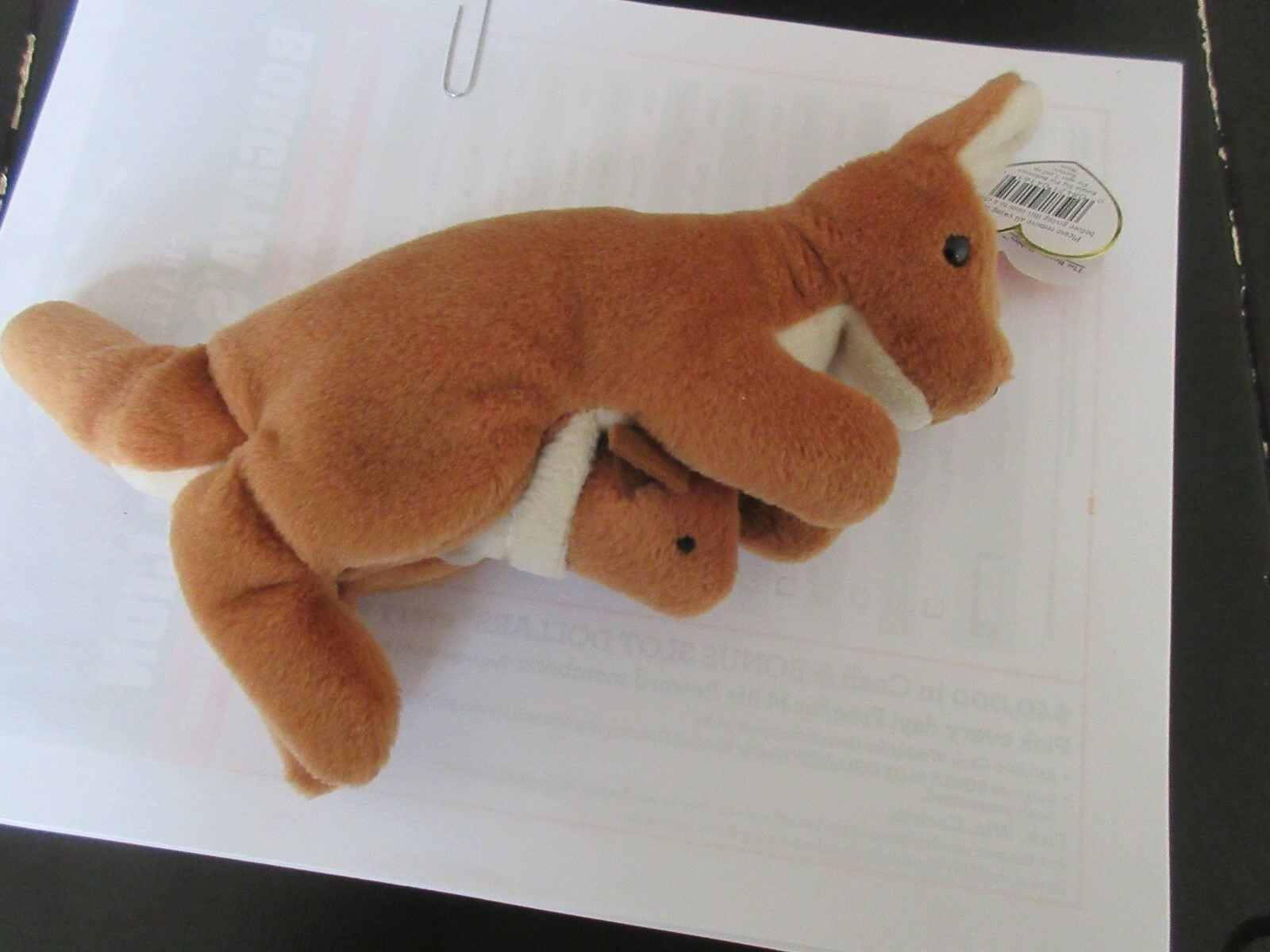 TY Beanie Baby , Original , POUCH , Style 4161 , 1996 T