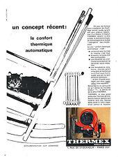 PUBLICITE ADVERTISING 045  1963  THERMEX  bruleur à mazout chat
