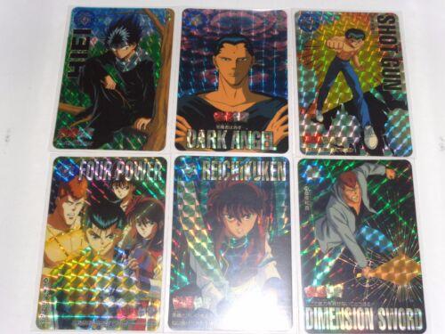 Yu Yu Hakusho CARDDASS PART 5  6 PRISM CARDS FULL SET