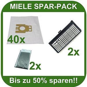 40 staubsaugerbeutel hepa motorfilter f r miele s 771. Black Bedroom Furniture Sets. Home Design Ideas