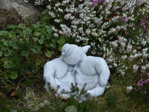 Massive pietra personaggio potabile GUSCIO mano con uccelli Vogeltränke in pietra colata frostfes
