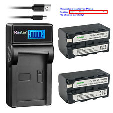 Kastar Battery Charger Sony NP-F770 NP-F750 NP-F730 BC-V615 L Series Camcorder